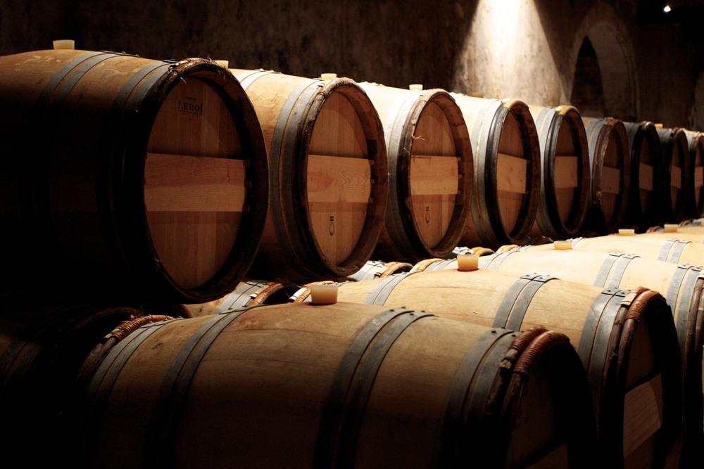 lines of barrels