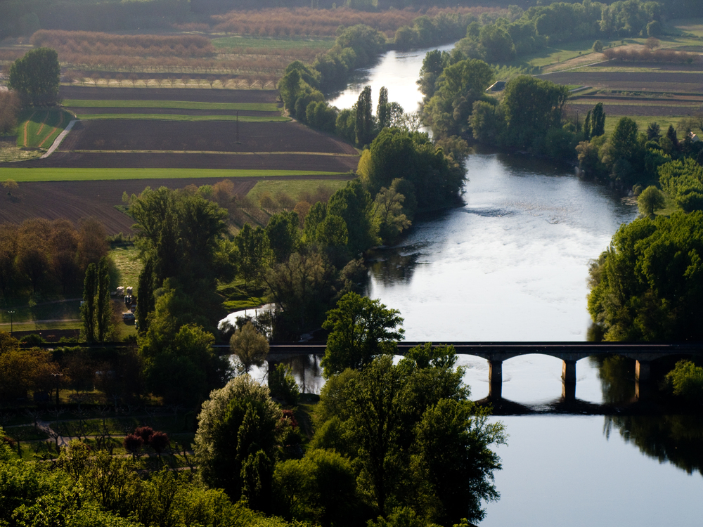 bridge of the dordogne river