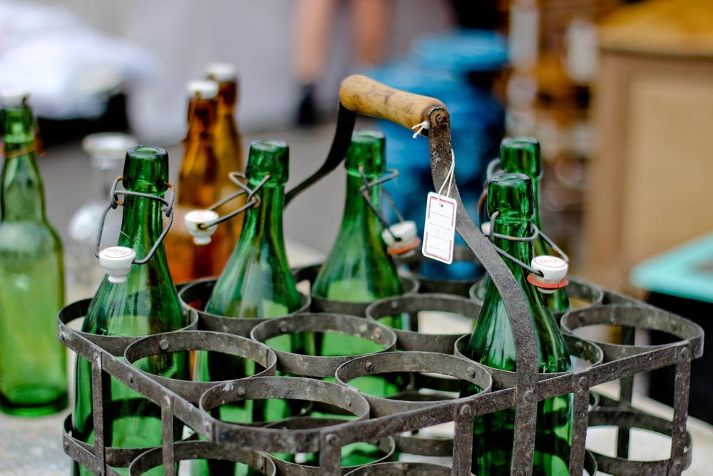 Bottles at the Market, France
