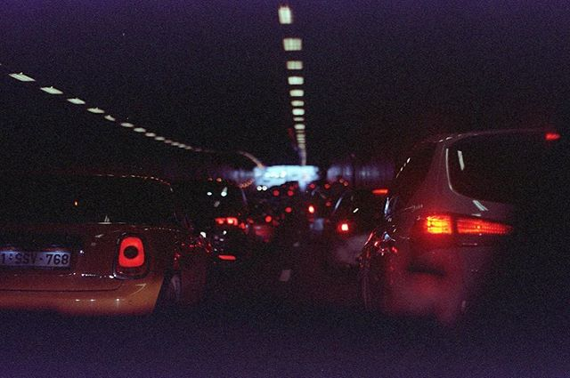 City life. Expired Kodak Portra 400. #developedathome #buyfilmnotmegapixels #analogphotography #analoglife #citylife #tunnel #traffic #brussels #belgium #filmphotography #kodakportra400 #niftyfifty #staybrokeshootfilm #noedit