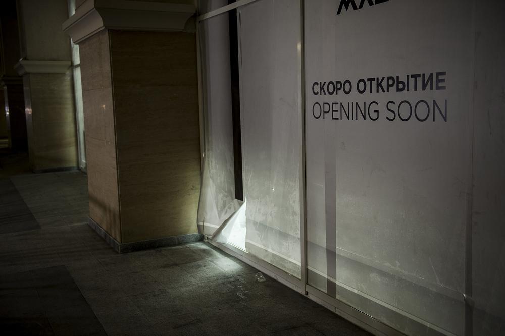 Och väldigt mycket halvfärdigt, bara dagar innan invigningen av OS 2014.