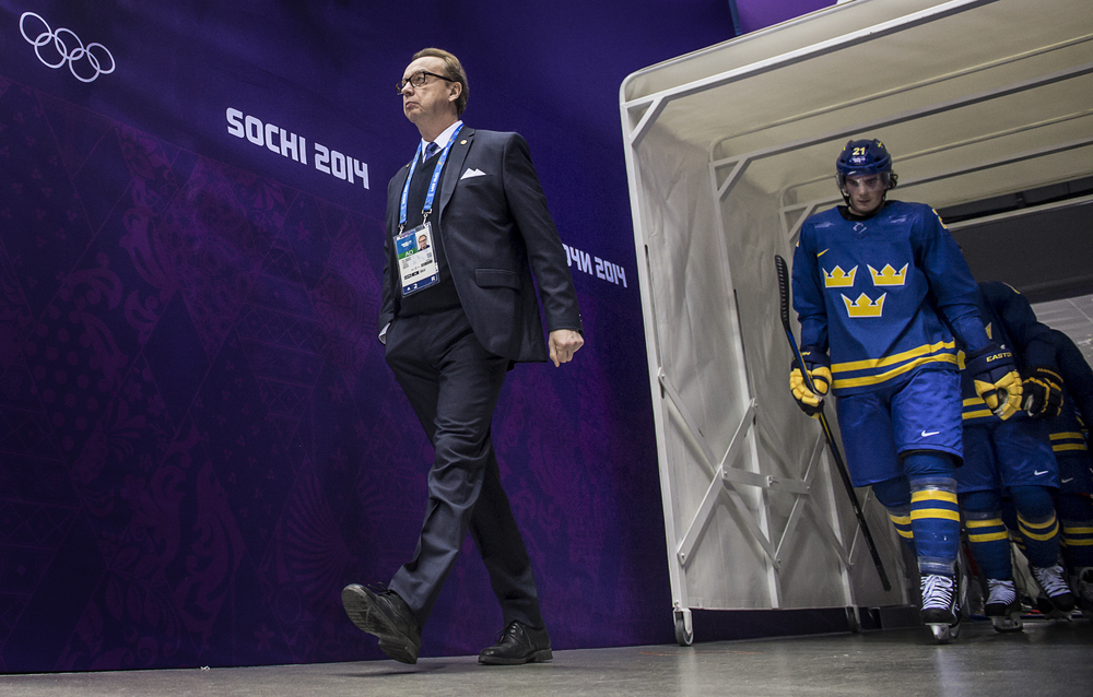 Pär Mårts och Loui Eriksson under matchen Sverige - Tjeckien.