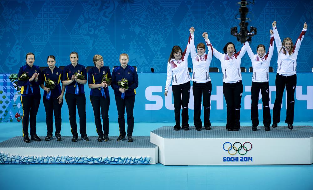 Curlingdamerna slutade tvåa i curlingfinalen och fick se sig besegrade av Kanada.