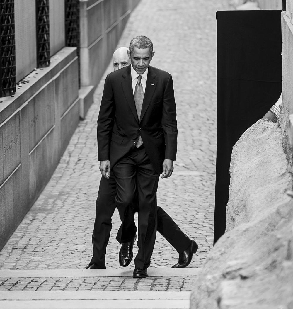 Barack Obama under sitt besök i Sverige 2013. Foto: Pontus Orre