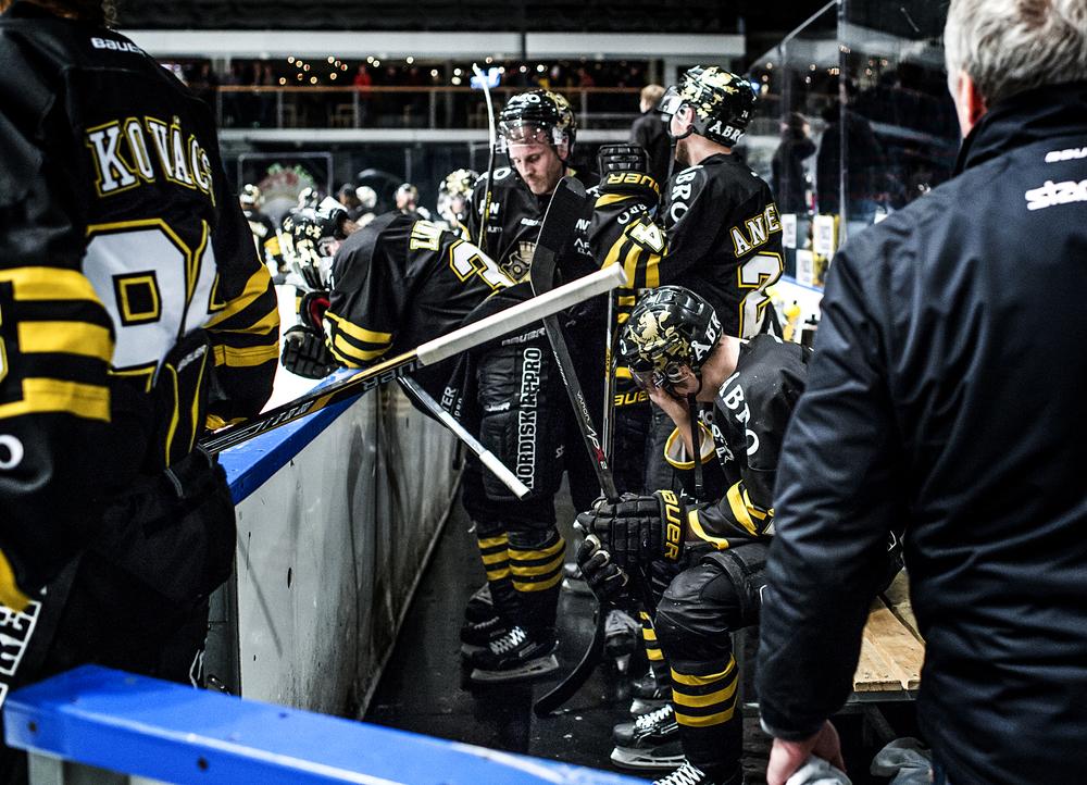 AIK tog emot Oskarshamn. Förlust med 1-2 för AIK och depp depp depp i båset. AIK fortfarande jumbo i Hockeyallsvenskan alltså.