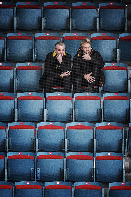 Inte direkt fullsatt... Men Johan Segui var där. På uppdrag av Aftonbladet.