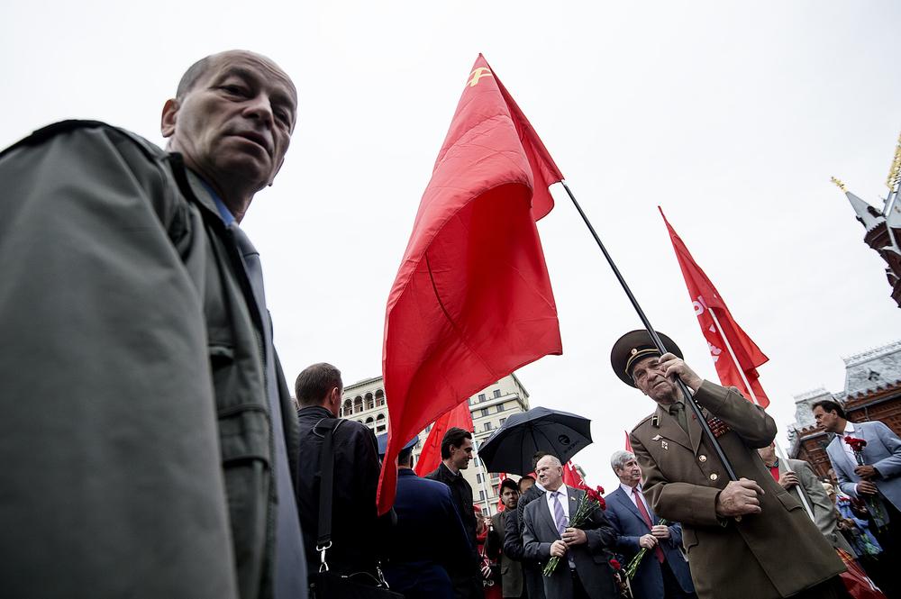 Bevakade EM-kvalet mellan Ryssland och Sverige. Stötte påRyska federationen kommunistiska partiet som mindes världskrigets slut den 2 september. Allt med kommunistisk flagga i högsta hugg.