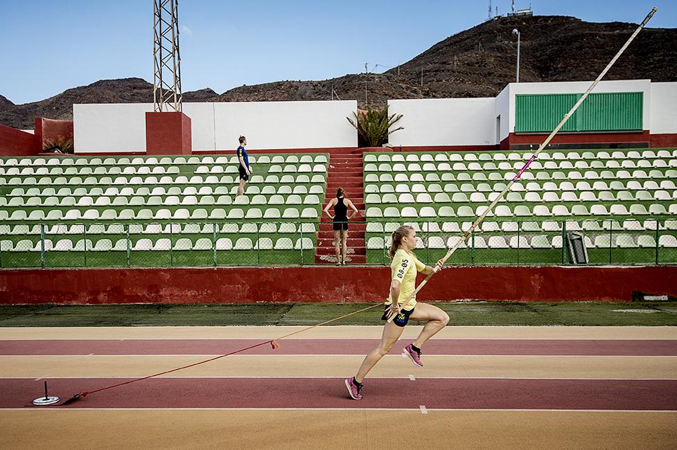 Michaela Meijer deltar vid SOKs träningsläger på Fuerteventura.