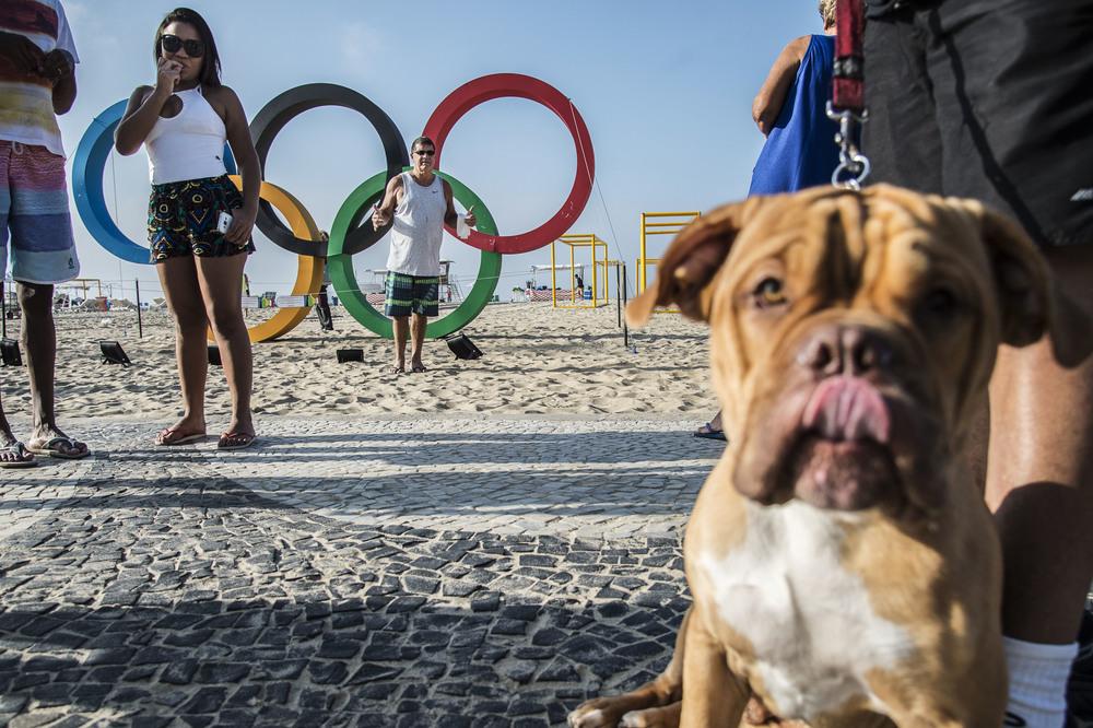 OS-ringarna på Copacabana är populära.