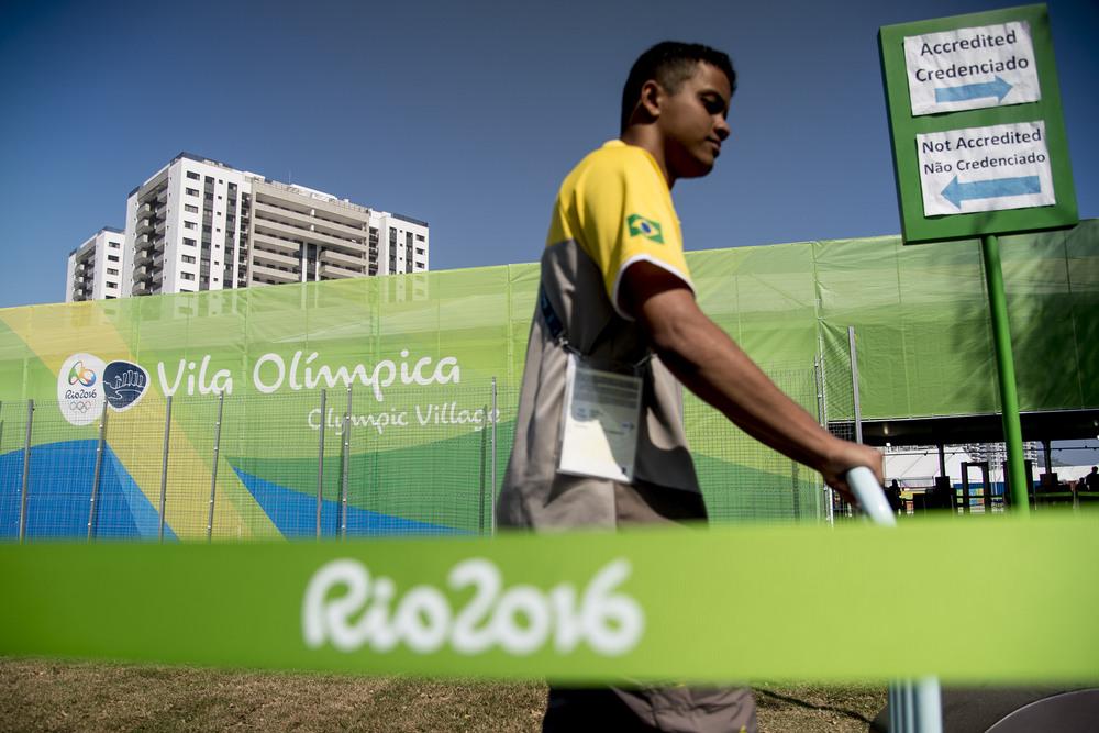 OS-byn där de aktiva kommer bo under OS.
