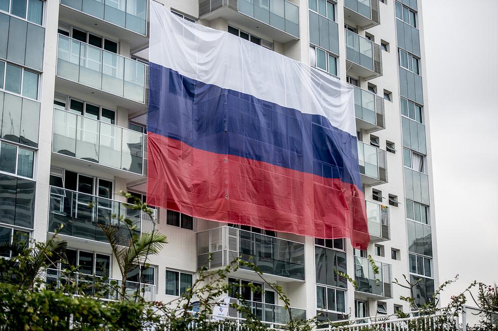 Den ryska flaggan, störst av alla!
