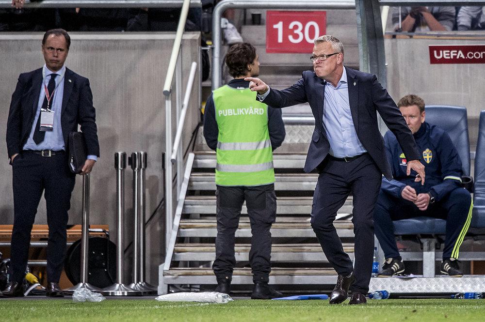 Jan (Janne, Party-Janne) Anderssons första match med landslaget. Så här såg den ut! För Aftonbladet/Sportbladet