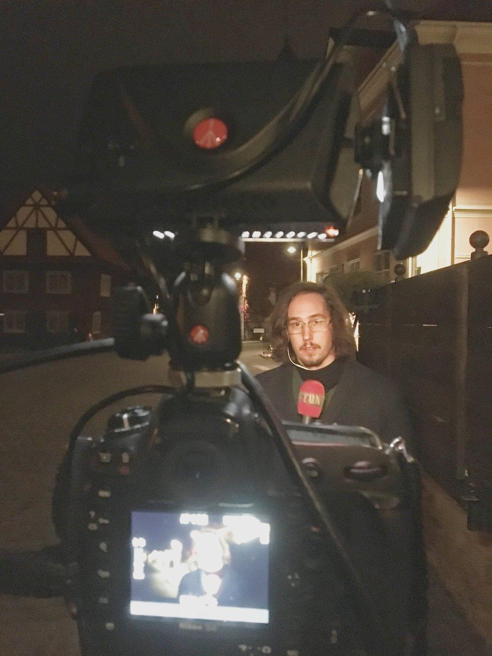 Så här såg det ut bakom kameran...