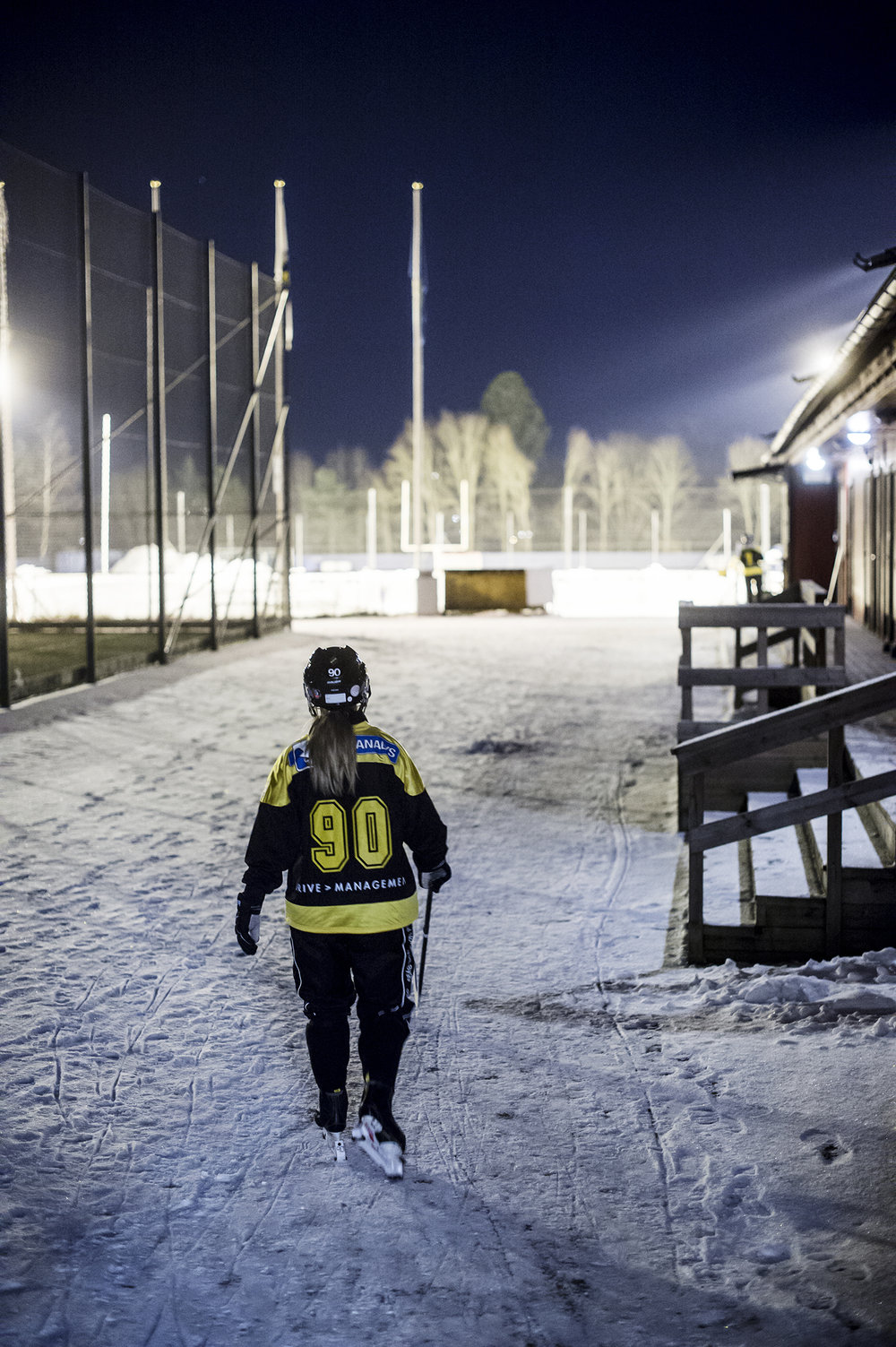 AIK bandydamer tränade i starka minusgrader.