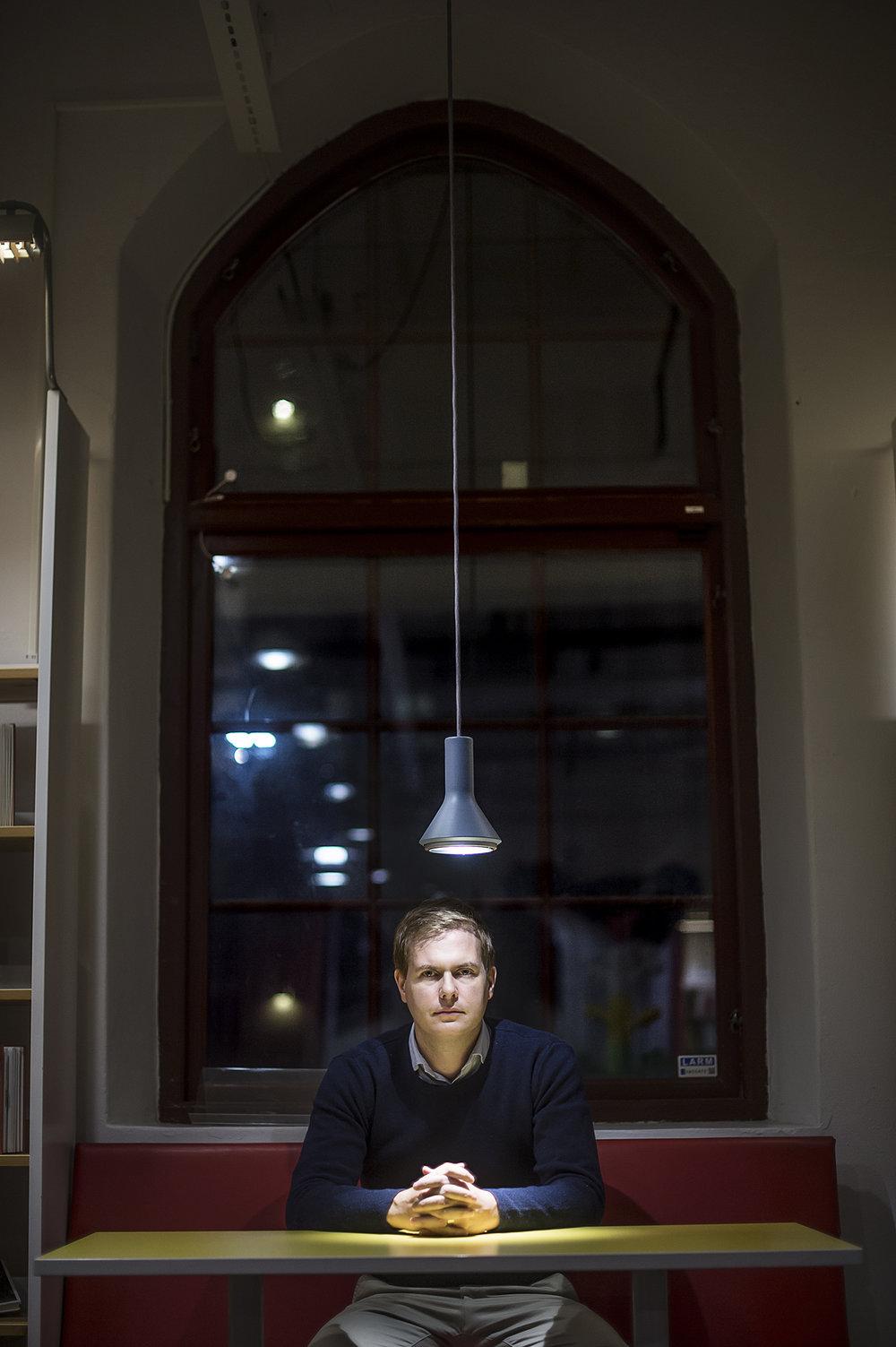 Träffade Gustav Fridolin på biblioteket i Sundbyberg.