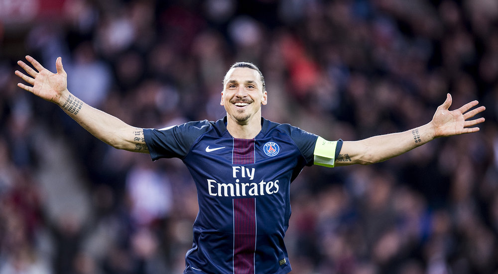 """Drog till Frankrike någon vecka innan fotbolls-EM för att göra reportage om   """"Zlatans avtryck i Frankrike""""   Här hans sista match med PSG som spelade mot Nantes."""