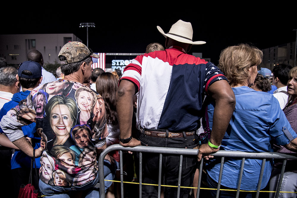 Hillary-anhängare i Phoenix.