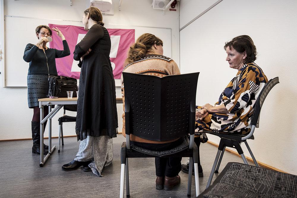 Annelie Nordström, fd. ordförande i kommunal meddelade på en presskonferens tillsammans med Gudrun Schyman, att hon blir medlem i Feministiskt initiativ.