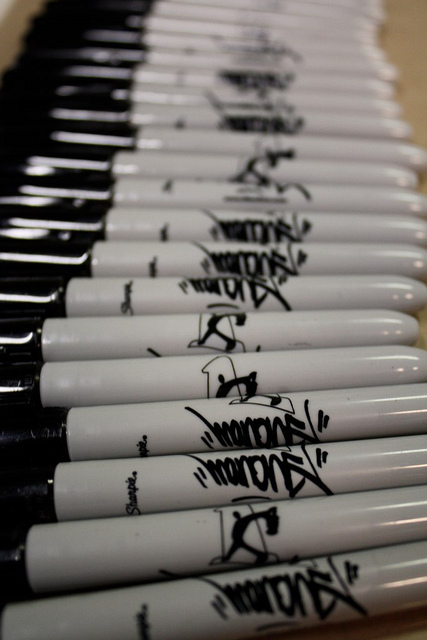 Man One signature Sharpies