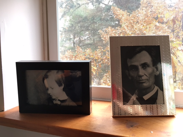 Photos of Lincoln and Willie I kept over my desk, to keep me honest and affectionate toward them both.