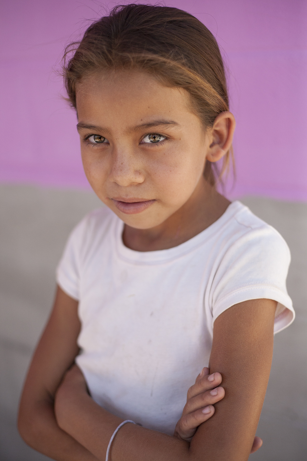 Veronica Johanna, 11, is one of the many children in Amatitán's new  post-massacre generation. The children attend school in a building next  to the church, where the community gathers and prays to the memory of their families and to a peaceful future.