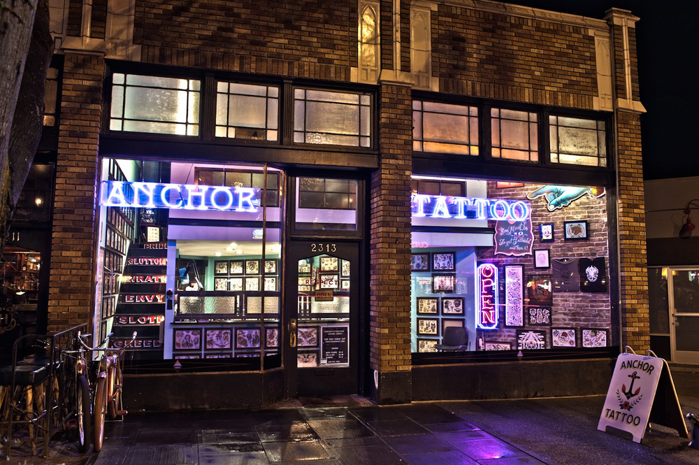 Anchor Tattoo Parlor in Seattle, WA.