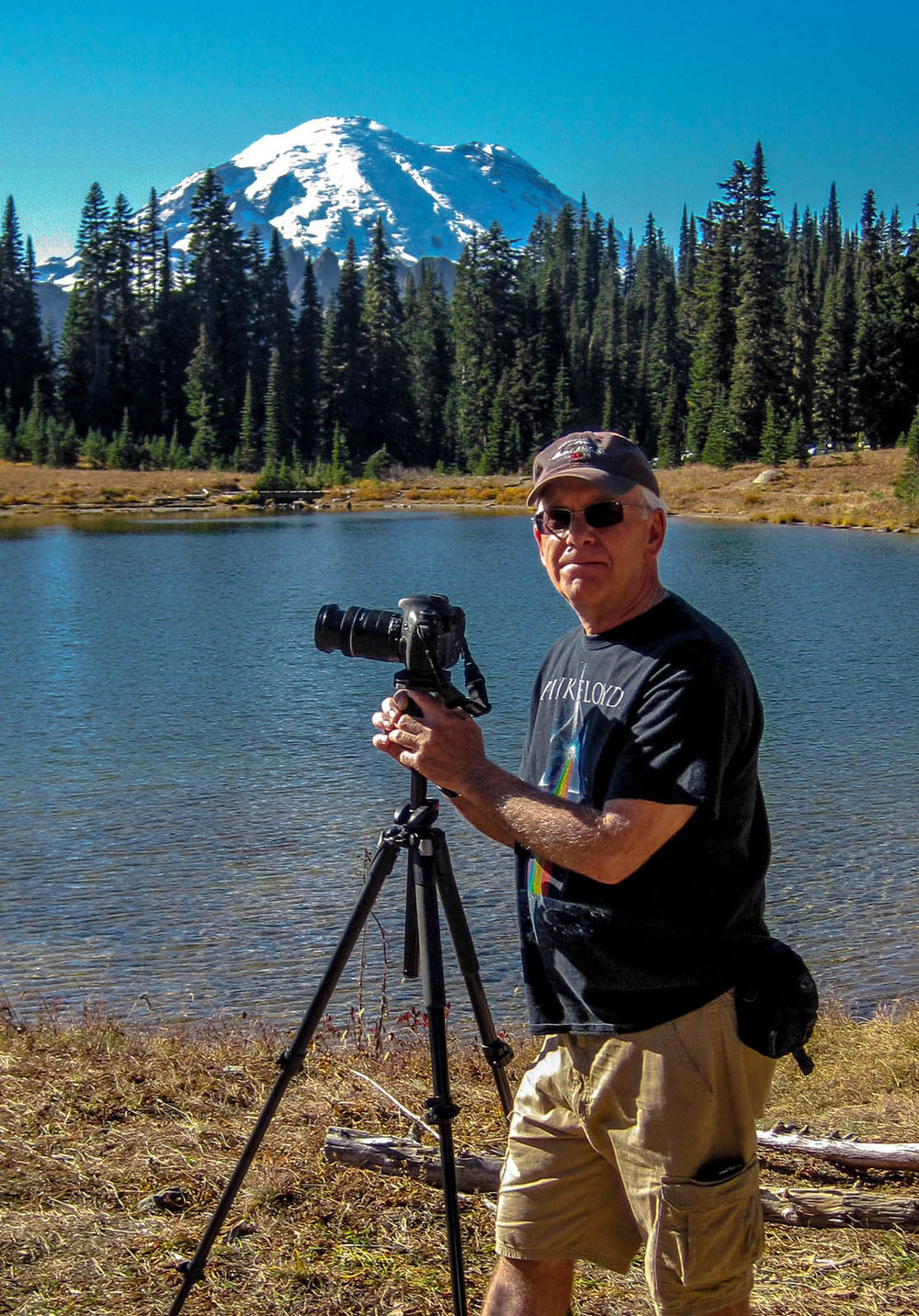 No better place to do landscape photography than at Mt. Rainier National Park. Thanks to my wonderful wife, Cheryl for this great portrait.