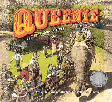 Australian cover of  Queenie One Elephant's Story
