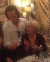 Libby Hathorn in Ubud with Nick Cave!