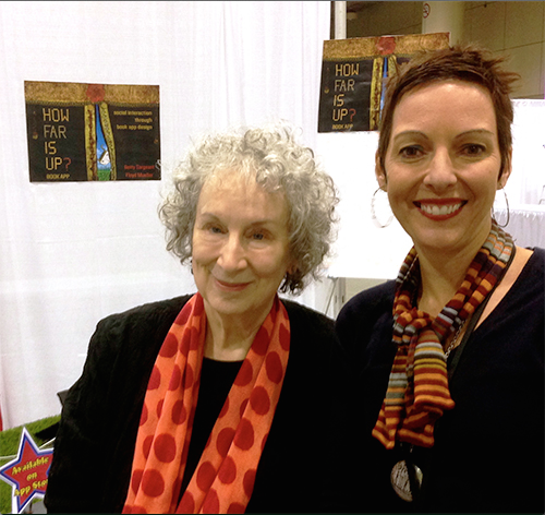 Betty Sergeant and Margaret Atwood at the launch of How Far is Up