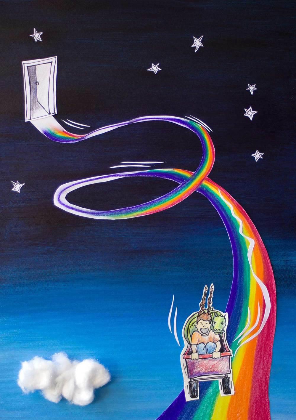 Nat Keller- Rainbow Rollercoaster