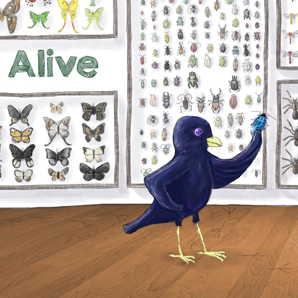 Renee Treemi - Bowerbird hearts blue
