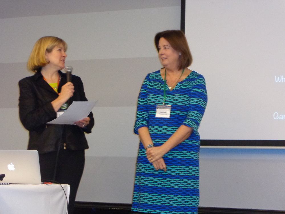 MC Carolyn Goodwin and Louise Parks