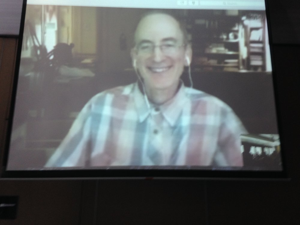 Paul Skyping from the US
