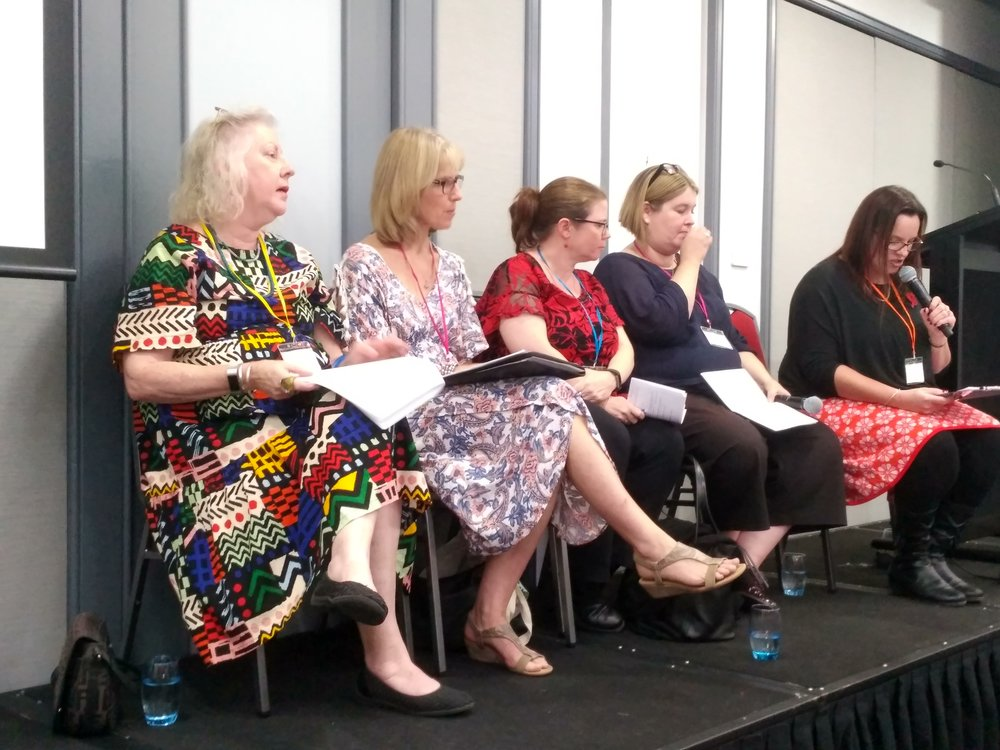 The panel of publishers led by Katrina McKelvy