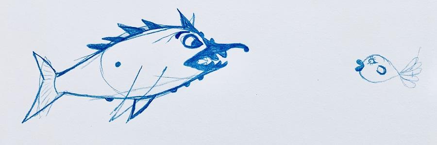 LeanneUglyFishKissyFishSketch.jpg