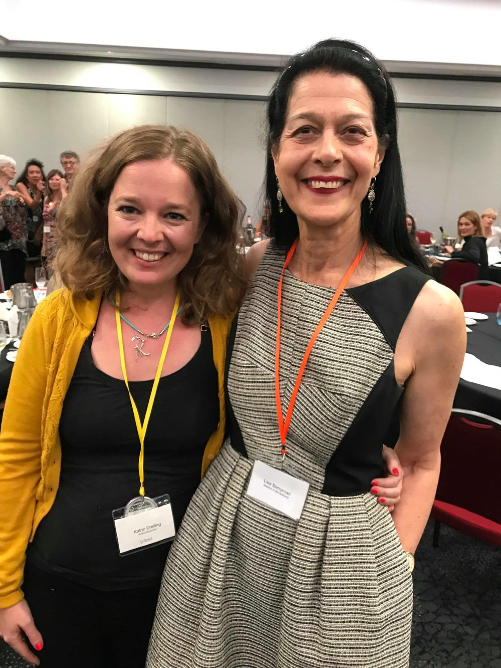 Katrin with HaperCollin's Lisa Berryman