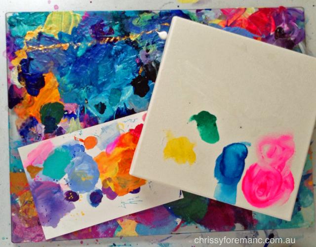 paint palette canvas beginnings