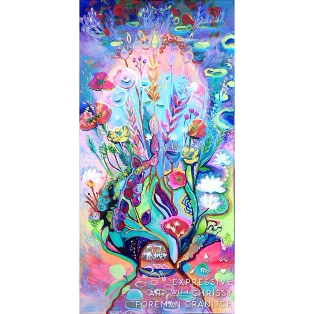 "'My Vocation'. 20"" X 40"", mixed media on canvas. $1600. (c) Chrissy Foreman Cranitch, 2014."