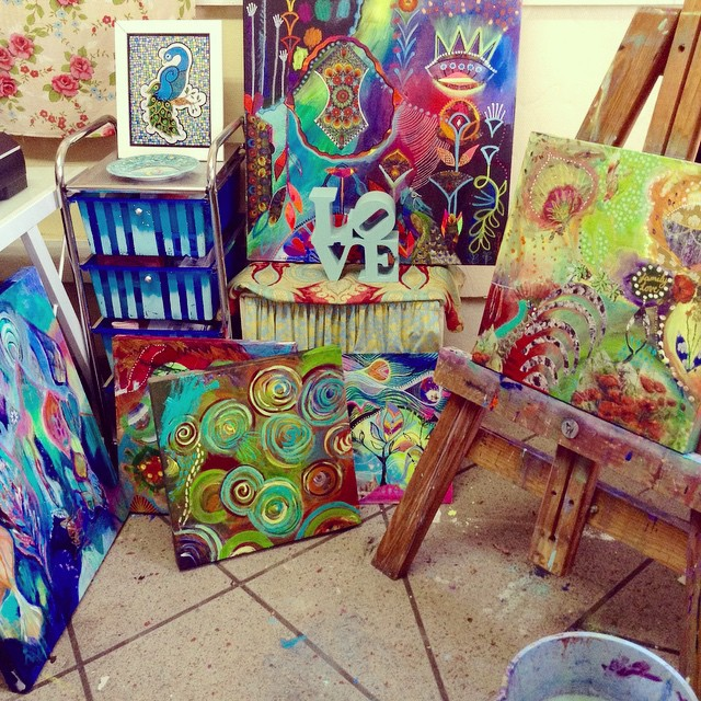 studio view | Chrissy Foreman Cranitch