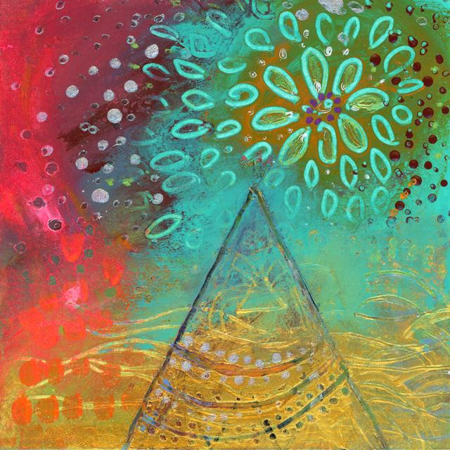 'Pyramid' 10 cm x 10 cm