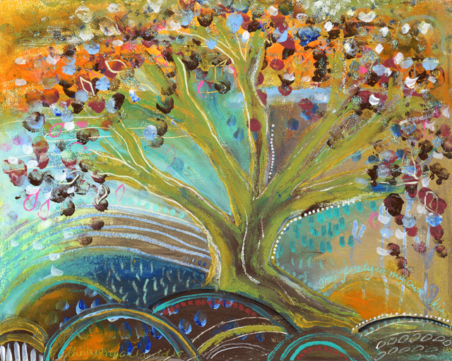 "'Tree of Life'. 8""X 10"""