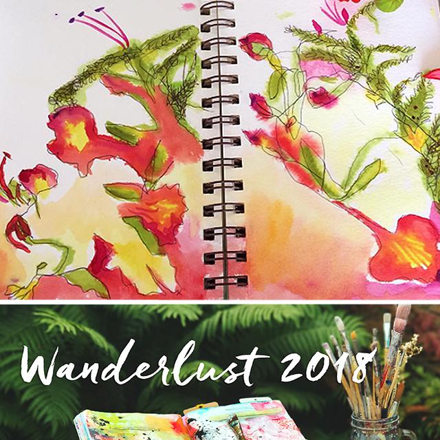 MINDFUL NATUREE-CLASS - an Art class bundle with Wanderlust