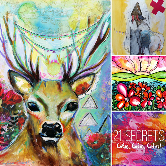 Colour with Feeling E-Class - an Art class bundle with 21 Secrets