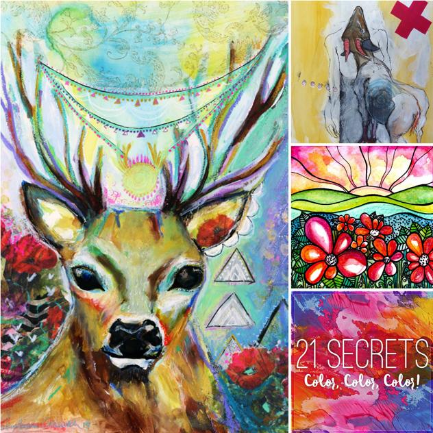 COLOUR WITH FEELINGE-CLASS - an Art class bundle with 21 Secrets