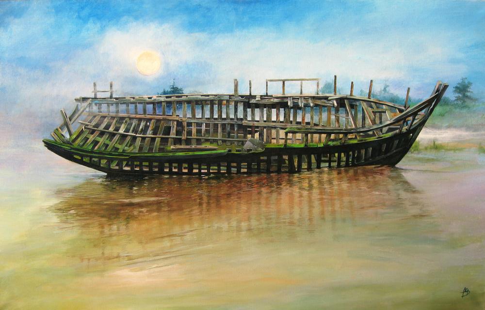 Fishing Quotas - 2004, arylics on canvas, 180x100.jpg