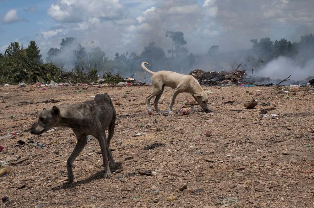 A local dump in Puerto Cabezas, Nicaragua