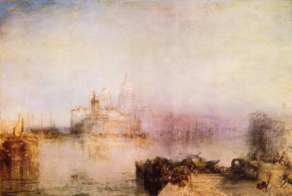 JMW Turner     The Grand Canal with Santa Maria della Salute, Venice    c.1835