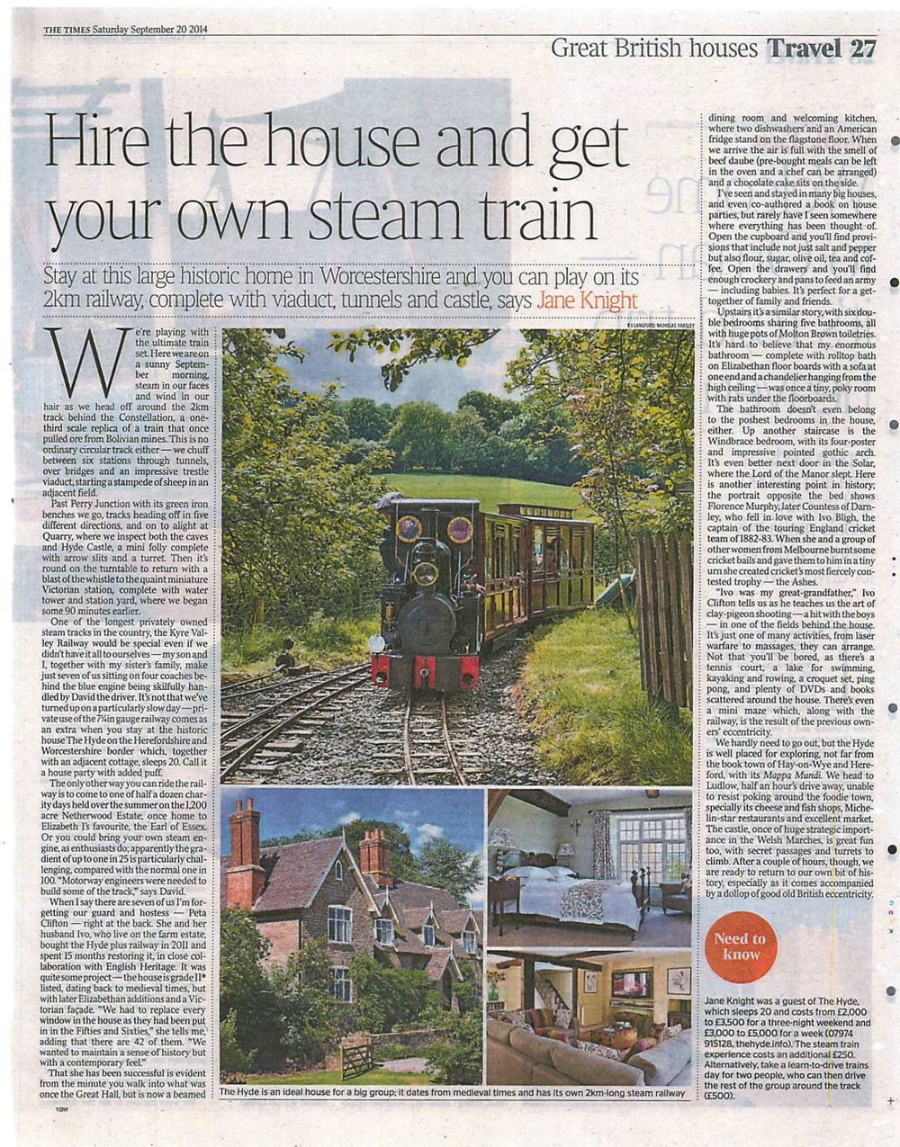 Review in Times Weekend 20th September 2014