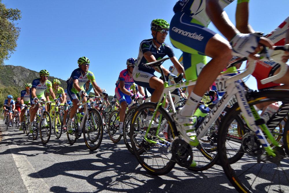 Au coeur du peloton du Giro